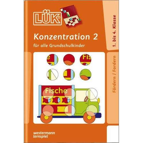 Heinz Vogel - LÜK: Konzentration 2: für alle Grundschulkinder: Übungen für alle Grundschulkinder - Preis vom 06.09.2020 04:54:28 h