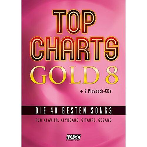Helmut Hage - Top Charts Gold 08. Mit 2 Playback CDs: Die 40 besten Songs für Klavier, Keyboard, Gitarre und Gesang - Preis vom 05.09.2020 04:49:05 h