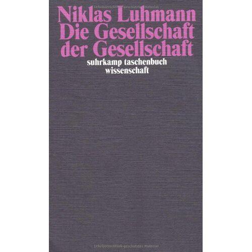 Niklas Luhmann - Die Gesellschaft der Gesellschaft.(2 Bd.) - Preis vom 24.09.2020 04:47:11 h