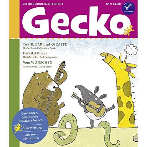 Marlies Bardeli - Gecko Kinderzeitschrift Band 71: Die Bilderbuchzeitschrift - Preis vom 10.05.2021 04:48:42 h