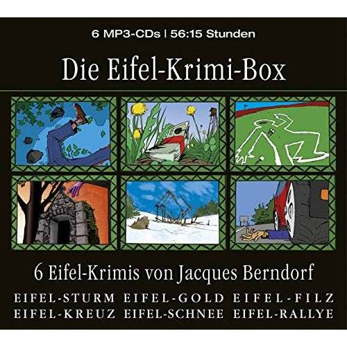 Jacques Berndorf - Die Eifel-Krimi-Box (6 Eifel-Krimis von Jacques Berndorf) - Preis vom 28.02.2021 06:03:40 h