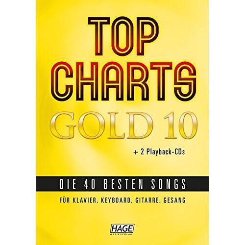 Helmut Hage - Top Charts Gold 10 mit 2 Playback CDs: Die 40 besten Songs für Klavier, Keyboard, Gitarre und Gesang - Preis vom 15.04.2021 04:51:42 h