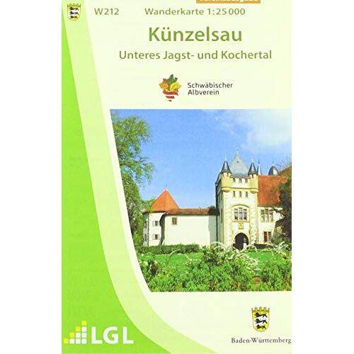 Schwäbischer Albverein e.V. - Künzelsau - Unteres Jagst- und Kochertal: Wanderkarte 1:25.000 (Wanderkarten 1:25 000) - Preis vom 05.09.2020 04:49:05 h