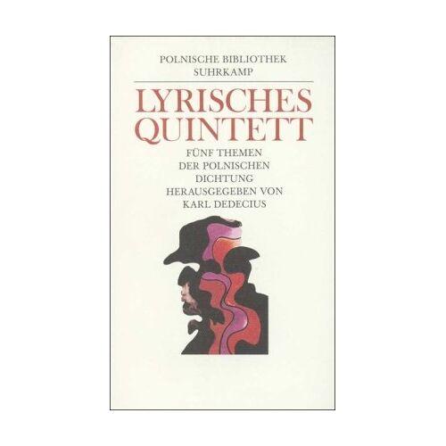 Karl Dedecius - Lyrisches Quintett: Fünf Themen der polnischen Dichtung - Preis vom 20.10.2020 04:55:35 h