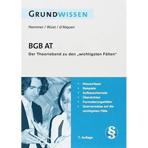 Karl-Edmund Hemmer - Grundwissen BGB AT - Preis vom 10.04.2021 04:53:14 h