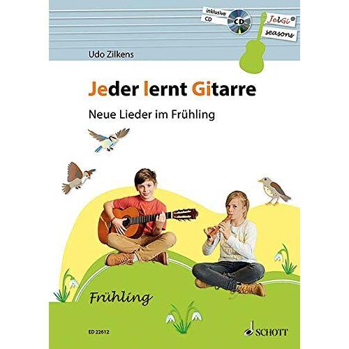 Udo Zilkens - Jeder lernt Gitarre - Neue Lieder im Frühling: JelGi-Liederbuch für allgemein bildende Schulen. Gitarre. Lehrbuch mit CD. - Preis vom 21.02.2020 06:03:45 h