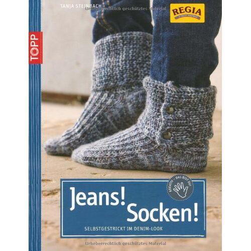 Tanja Steinbach - Jeans! Socken! Selbstgestrickt im Denim-Look - Preis vom 05.09.2020 04:49:05 h