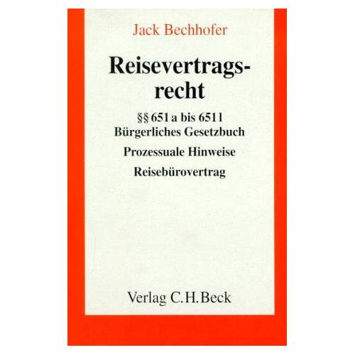 Jack Bechhofer - Reisevertragsrecht - Preis vom 15.01.2021 06:07:28 h