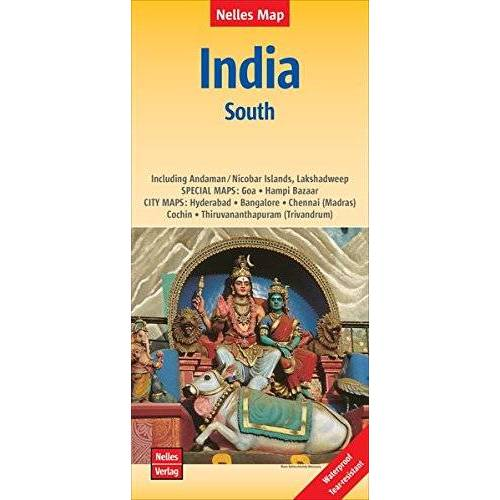 Nelles Verlag - Nelles Map Landkarte India: South   Indien: Süd   Inde: Sud   India: Sur: 1 : 1.500.000   reiß- und wasserfest; waterproof and tear-resistant; indéchirable et imperméable; irrompible & impermeable - Preis vom 03.05.2021 04:57:00 h