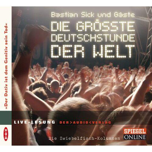 Bastian Sick - Die größte Deutschstunde der Welt. CD: Der Dativ ist dem Genitiv sein Tod - Die Zwiebelfisch-Kolumnen - Preis vom 21.10.2020 04:49:09 h