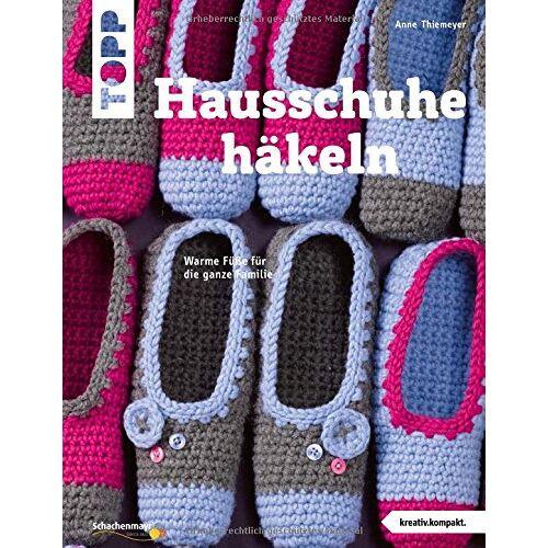 Anne Thiemeyer - Hausschuhe häkeln (kreativ.kompakt.): Warme Füße für die ganze Familie - Preis vom 20.10.2020 04:55:35 h