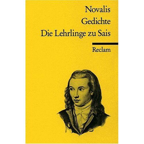 Novalis - Gedichte. Die Lehrlinge zu Sais - Preis vom 13.05.2021 04:51:36 h
