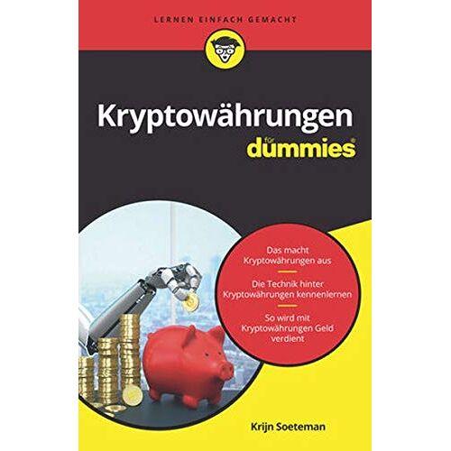 Krijn Soeteman - Kryptowährungen für Dummies - Preis vom 28.03.2020 05:56:53 h