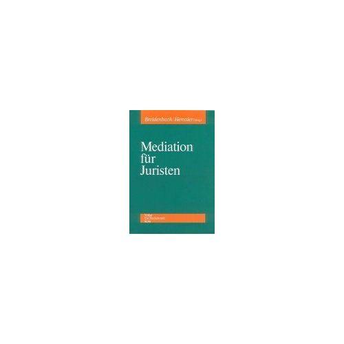 Stephan Breidenbach - Mediation für Juristen - Preis vom 15.05.2021 04:43:31 h