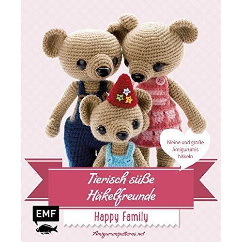 Amigurumipattern - Tierisch süße Häkelfreunde Happy Family: Kleine und große Amigurumis häkeln - Preis vom 06.05.2021 04:54:26 h