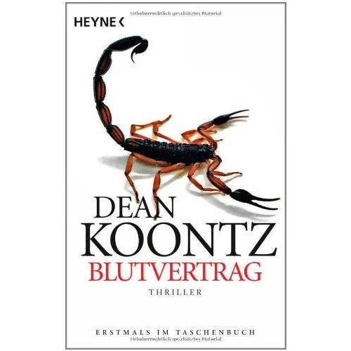 Dean Koontz - Blutvertrag: Roman - Preis vom 16.05.2021 04:43:40 h