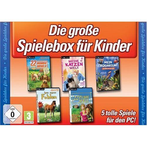 Rondomedia - Die große Kinderspiele-Box (22 Hundespiele / Meine Katzenwelt / Mein Aquarium / Dein großes Fohlen / 22 Pferdespiele) - Preis vom 16.04.2021 04:54:32 h