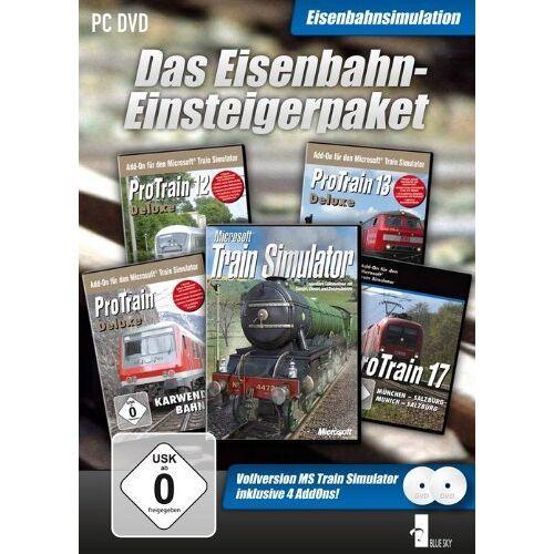 Blue Sky Eisenbahn Einsteigerpaket MSTS HP + 4Strecken - Preis vom 03.05.2021 04:57:00 h
