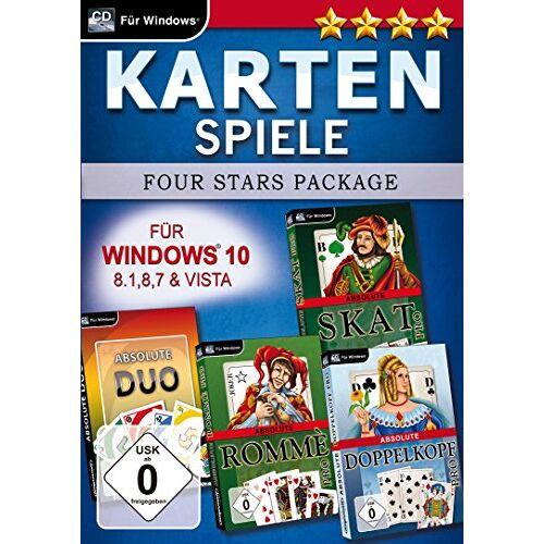 Magnussoft - Kartenspiele Four Stars für Windows 10 (PC) - Preis vom 18.10.2020 04:52:00 h