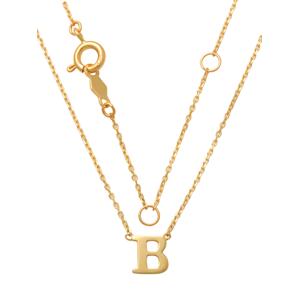 Schneider Basic Collier - Buchstabe B - GBCB gold
