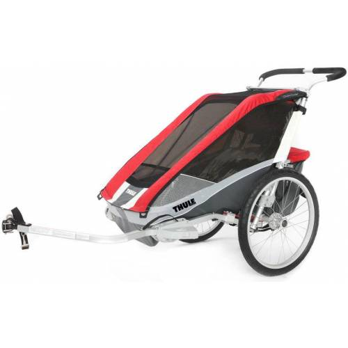 Thule Chariot Cougar 2 inkl. Fahrradset Rot Modell Auslaufmodell