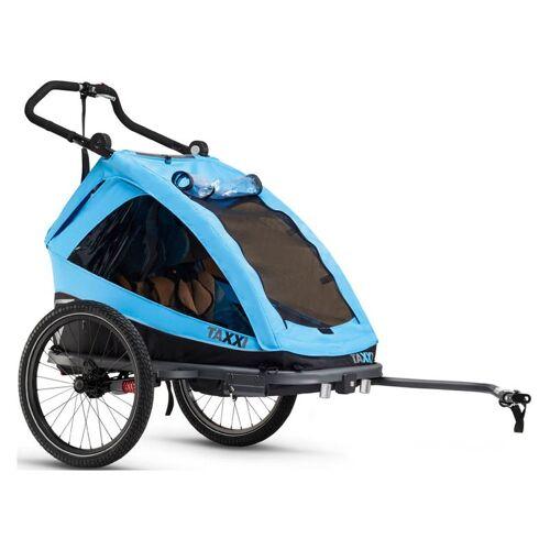 S'cool taXXi Elite two Fahrradanhänger Blau Modell 2019