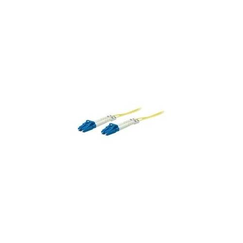 Intellinet Fibre Optic Patch Cable, OS2, LC/LC, 20m, Yellow, Duplex, Single-Mode, 9/125 µm,