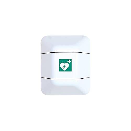 Eichner Defibrillatorschrank, B 434 x T 225 x H 528 mm, weiß/rot