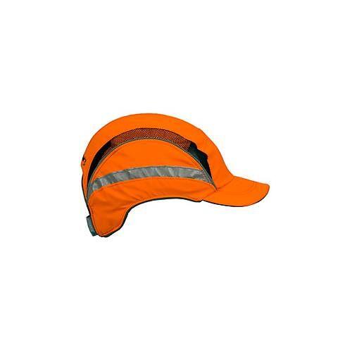 First Base Cap orange mit Reflexstreifen