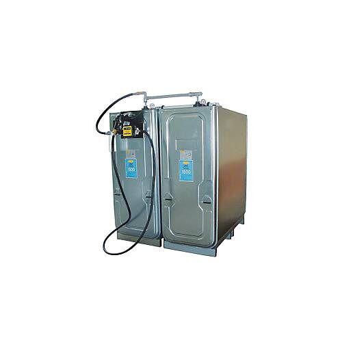 Cemo Dieseltankanlage CEMO mit UNI-Tank 1500 l Volumen, TW-Kupplung, 230 V Elektropumpe