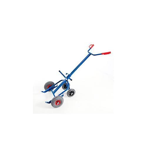 Rollcart Transportsysteme Fasskarre mit 2 Stützrädern, Lufträder, für den Transport von 200 l Stahlblechfässern mit Rand