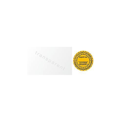 Kabelprüfplakette, Geprüft von, nach DGUV Vorschrift 3 (2019-2028)