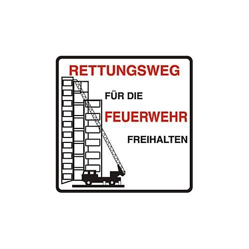 """Parkverbot-Schild """"Rettungsweg für die Feuerwehr freihalten"""" (Alu-Dibond)"""