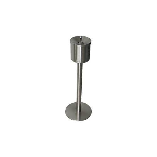 Standascher Rondo Smoke, Volumen 0,4 Liter, geruchsdichter Durchlass, Druckknopf