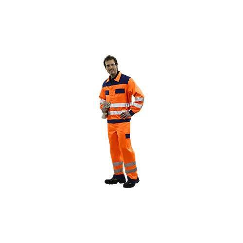 Warnschutz-Bundhose, orange/blau