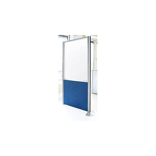 Schallschutzwand System Alu Klett, Halbglasfassung, 1600 x 850 mm, DIN EN ISO 354, kombinierbar, div. Rahmen- & Stofffarben