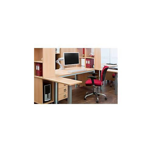 """Ergotron Monitorarm Ergotron HX, für Monitore bis 42"""", ergonomisch, höhenverstellbar, mit Tischklemme, weiß"""