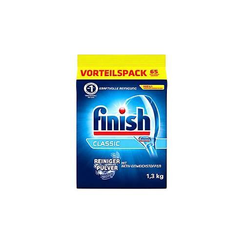 Finish Geschirrreiniger Pulver Finish, mit Aktiv-Einweichstoffen, für 65 Anwendungen, Inhalt 1,3 kg