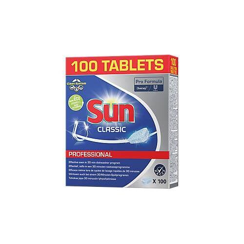 Sun Geschirrreiniger-Tabs Sun Professional Classic, hochkonzentriert, umweltfreundlich, 100/188 Stück