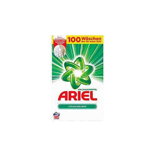Vollwaschmittel Ariel Pulver Regulär, 100 WL, Waschmittel ab 30°C