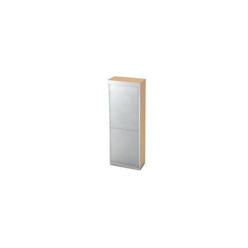 Rollladenschrank, 5 OH, Rollladen silberfarbig