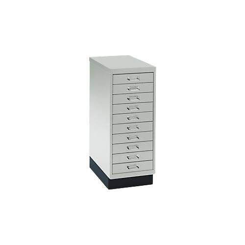 Schubladenschrank DIN A4, mit 10 Schubladen, 675 mm hoch
