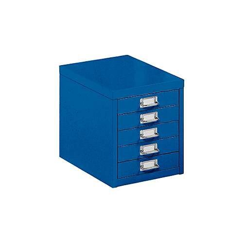 Schubladenschrank DIN A4, mit 5 Schubladen, 330 mm hoch