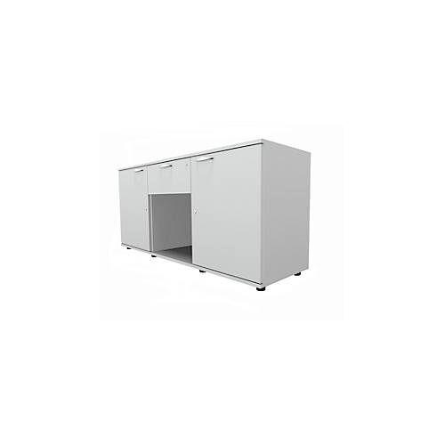 Sideboard, 2 Türen + Schub, abschließbar, Spanplatte, B 1500 x T 420 x H 663 mm