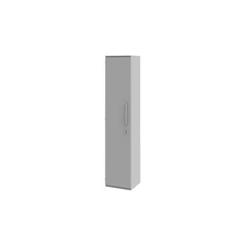 Aktenschrank BARI, 3/6 OH, 2/5 Böden, Türanschlag links/rechts, ohne/mit Schloss, B 427 x T 430 x H 1117/2174 mm