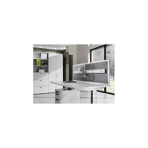 Akustik-Orgawand, f. Schreibtisch B 1200 – 1800 mm, Schallschutzklasse C, H 500 mm