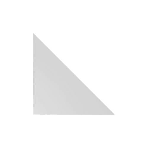 Verkettungs-Eckwinkel für Schreibtisch ULM, dreieckig, B 800 x T 800 mm