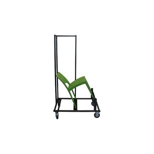 Transportwagen für Stapelstuhl SOL, für bis zu 20 Stück, mit Lenk- und Bockrollen