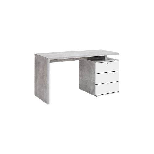 Schreibtisch, mit Standcontainer, Wangenfuß, B 1400 x T 800 x H 750 mm