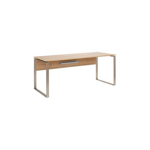 Schreibtisch Amy, mit Kabeldurchlass, Metall-Kufengestell, B 1800 mm